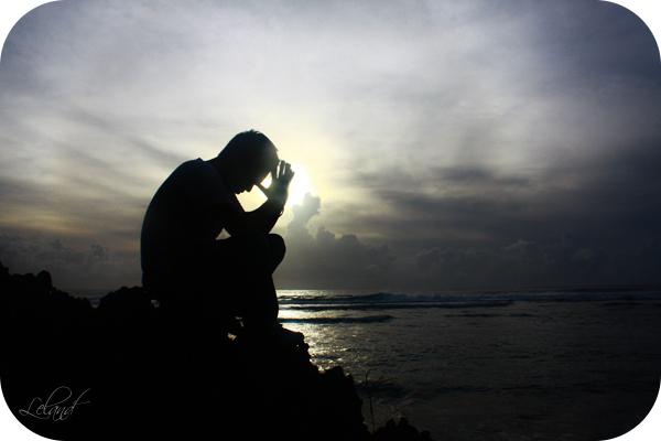 Emotional at sunset