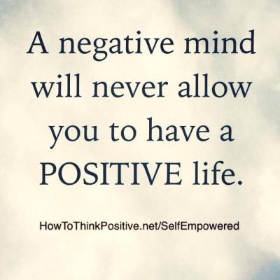 a negative mind
