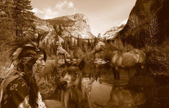 native American nature scene