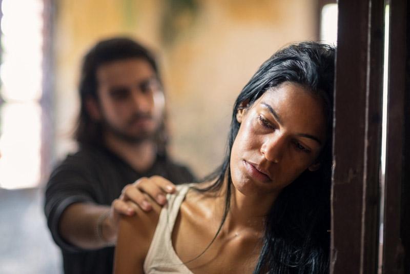 woman in deep emotional pain