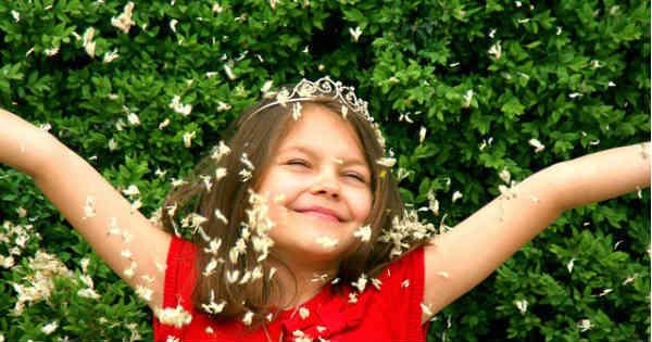girl feeling overjoyed
