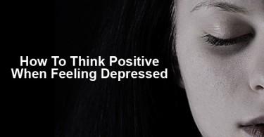 Thinking positive when feeling depressed